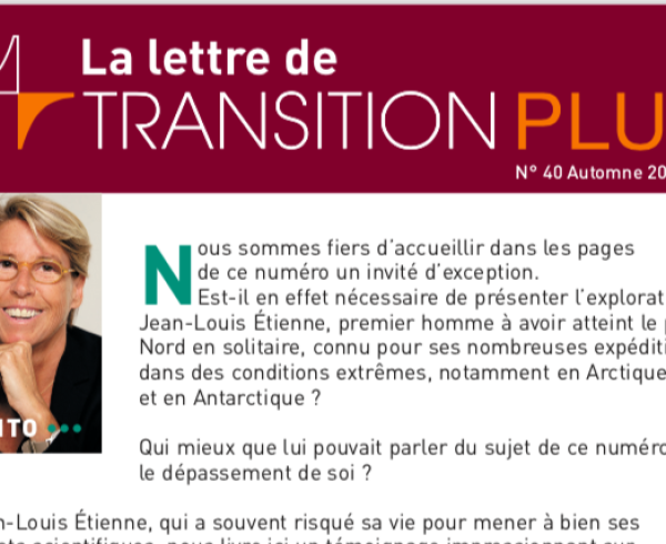 Entete Newsletter Transition Plus 40